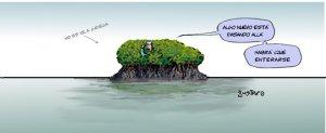 gustavo en una isla